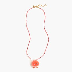 Girls' Max the Monster pom-pom necklace