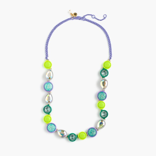 Girls' glow-in-the-dark jewel necklace