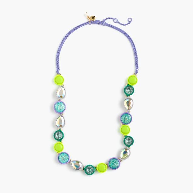 Girls' glow-in-the-dark jewel necklace