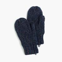 Girls' speckled cotton mittens