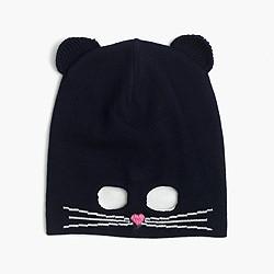 Girls' kitty mask beanie