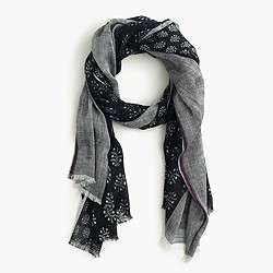 Mixed fern printed scarf