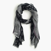 Mixed fern printed scarf