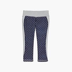 New Balance® for J.Crew performance capri leggings in colorblock polka dot