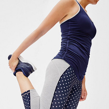 New Balance® for J.Crew performance capri leggings in colorblock polka dot