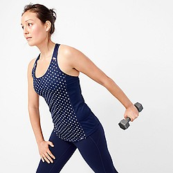 New Balance® for J.Crew polka-dot cooling tank top