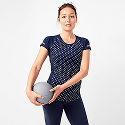 New Balance® for J.Crew polka-dot cooling T-shirt