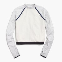 New Balance® for J.Crew long-sleeve colorblock crop top