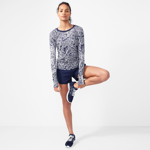 New Balance® for J.Crew in-transit long-sleeve T-shirt in paisley