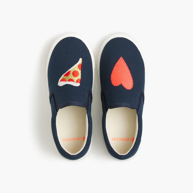 Girls' slide sneakers in pizza heart