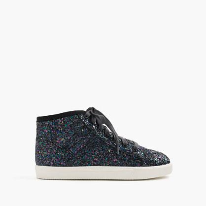 Girls' high-top sneakers in glitter