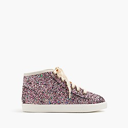Girls' high-top sneakers in glitter