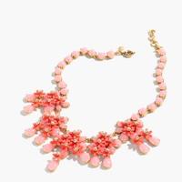 Floral cascade necklace
