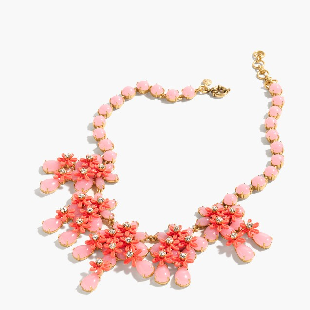 Floral cascade necklace