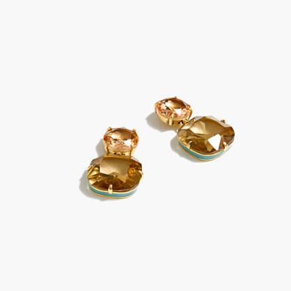 Enamel edge earrings