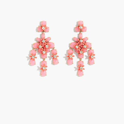 Floral cascade earrings