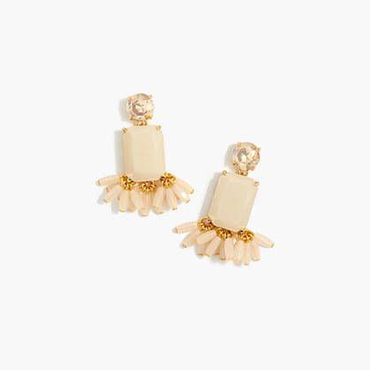 Crystal fan earrings