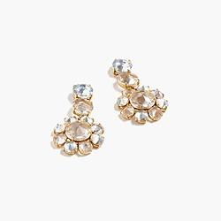 Icy crystal drop earrings