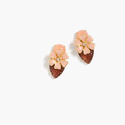 Stacked floral earrings