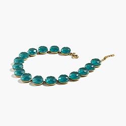 Circular stone necklace