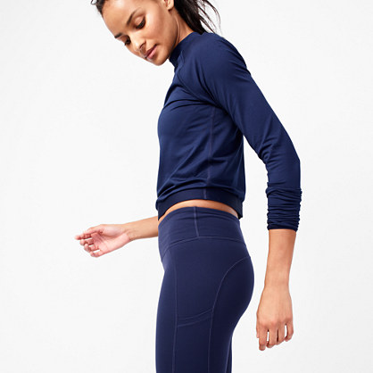 New Balance® for J.Crew long-sleeve crop top