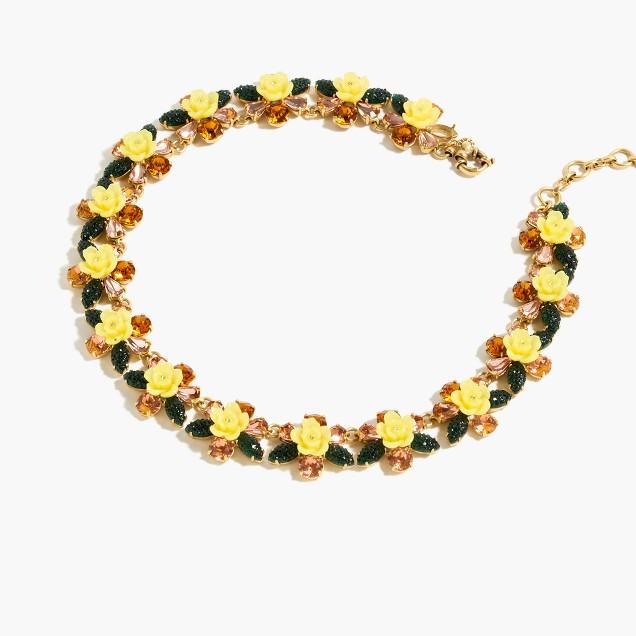 Firefly flower collar necklace