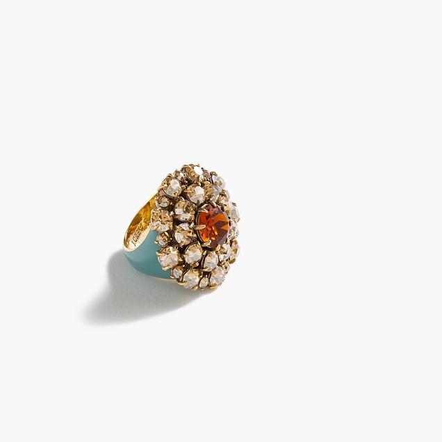 Crystal burst ring