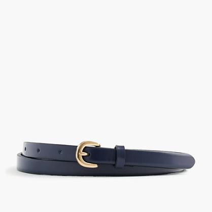 Skinny Italian leather belt