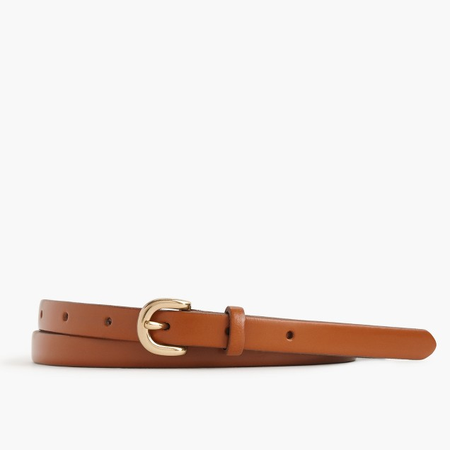 Skinny Italian leather belt