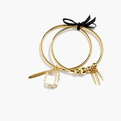 Bangle charm bracelets (set of two)