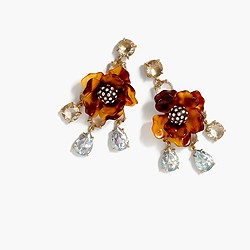 Tortoise flower earrings