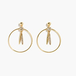 Pendulum hoop earrings
