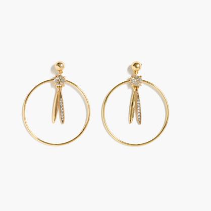 Pendulum hoop earrings