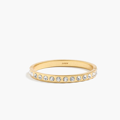 Crystal clamp bracelet