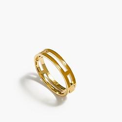 Enamel clamper bracelet