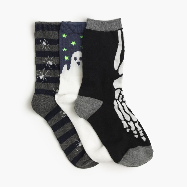 Boys' spooky socks three-pack