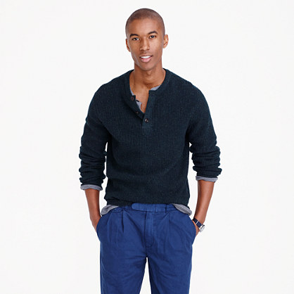 Wallace & Barnes wool henley sweater