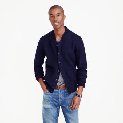 Mens Boiled Wool Sweater Jacket Cardigan Crochet Tutorial