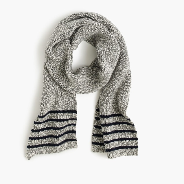 Boys' striped cotton scarf