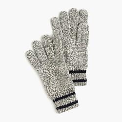 Boys' striped cotton gloves
