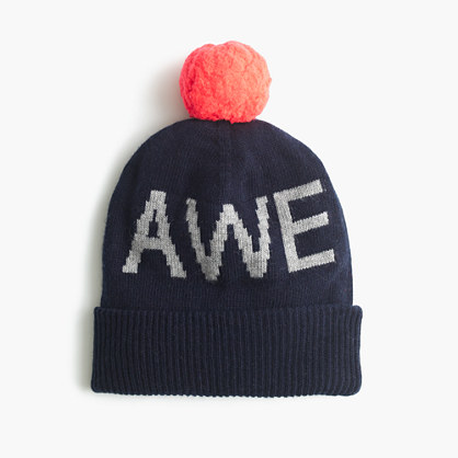 "Boys' ""awesome"" beanie hat"