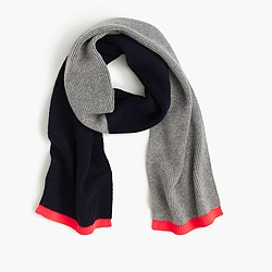Boys' colorblock scarf