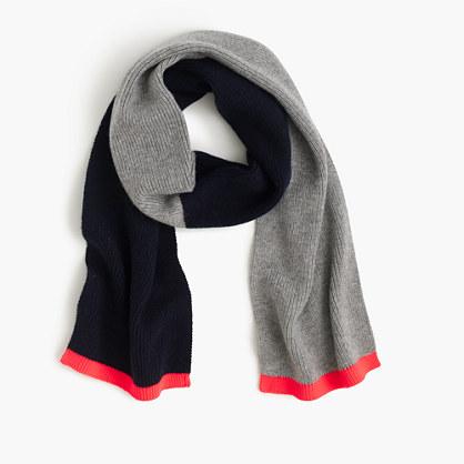 Boys' colorblock scarf