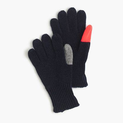 Boys' colorblock gloves