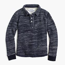 Boys' fleece polo shirt