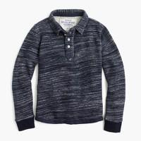 Boys' collared sweatshirt