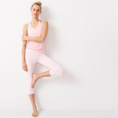 New Balance® for J.Crew performance capri leggings in stripe