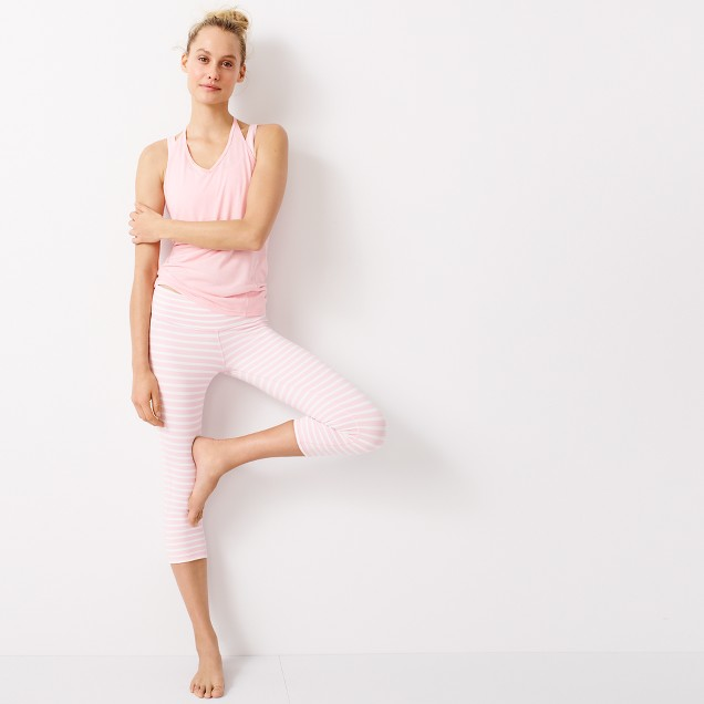 New Balance® for J.Crew performance capri leggings in stripe