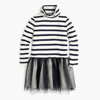 Girls' turtleneck tulle dress