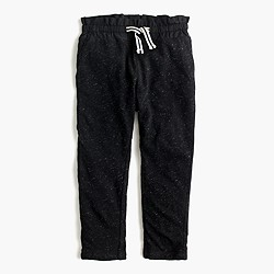 Girls' stripe-lined sweatpant